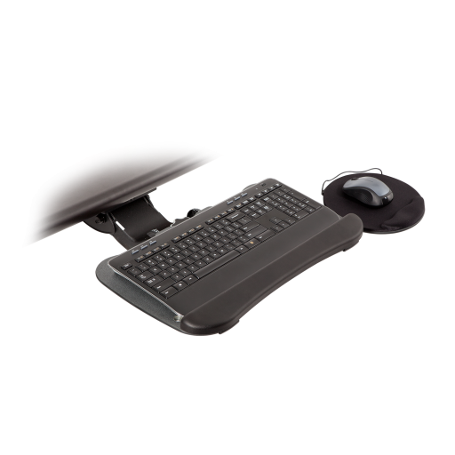 8492-8494 – Compact Keyboard Arm w/19-inch Keyboard Tray with Swivel Mouse Tray