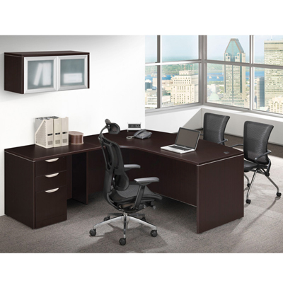 Bow Front L Shape Desk Cheyenne Office Furniture