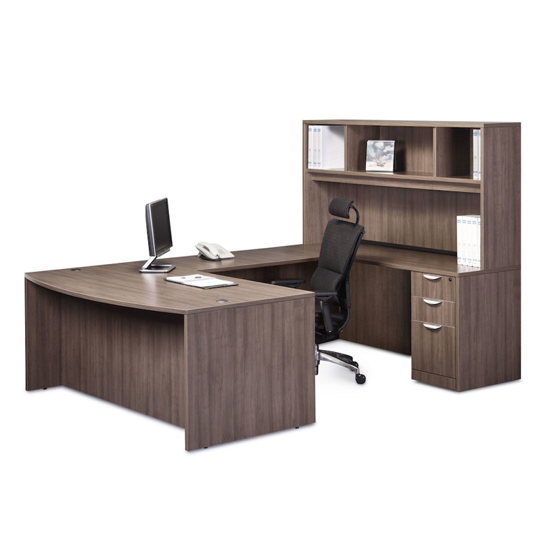 classic executive bowfront workstation cheyenne office