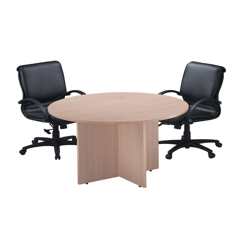 Clic Round Conference Tables With Cross Base