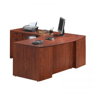 Classic Plus Bowfront Desk with Return