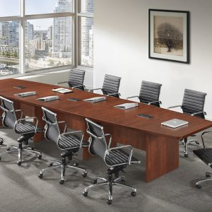 Classic Boat Shaped Conference Table