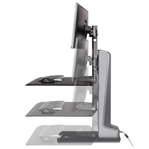 Winston E Sit Stand Workstation Dual Monitor Mount