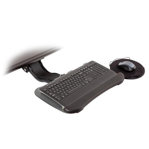 8491-8494 – Extended Reach Keyboard Arm w/19-inch Keyboard Tray with Swivel Mouse Tray