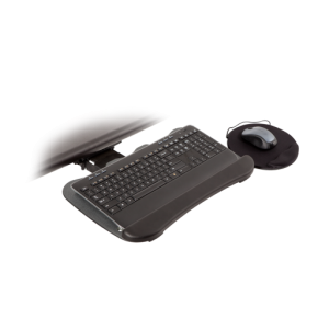 8493-8494 – Short Return Keyboard Arm w/19-inch Keyboard Tray with Swivel Mouse Tray